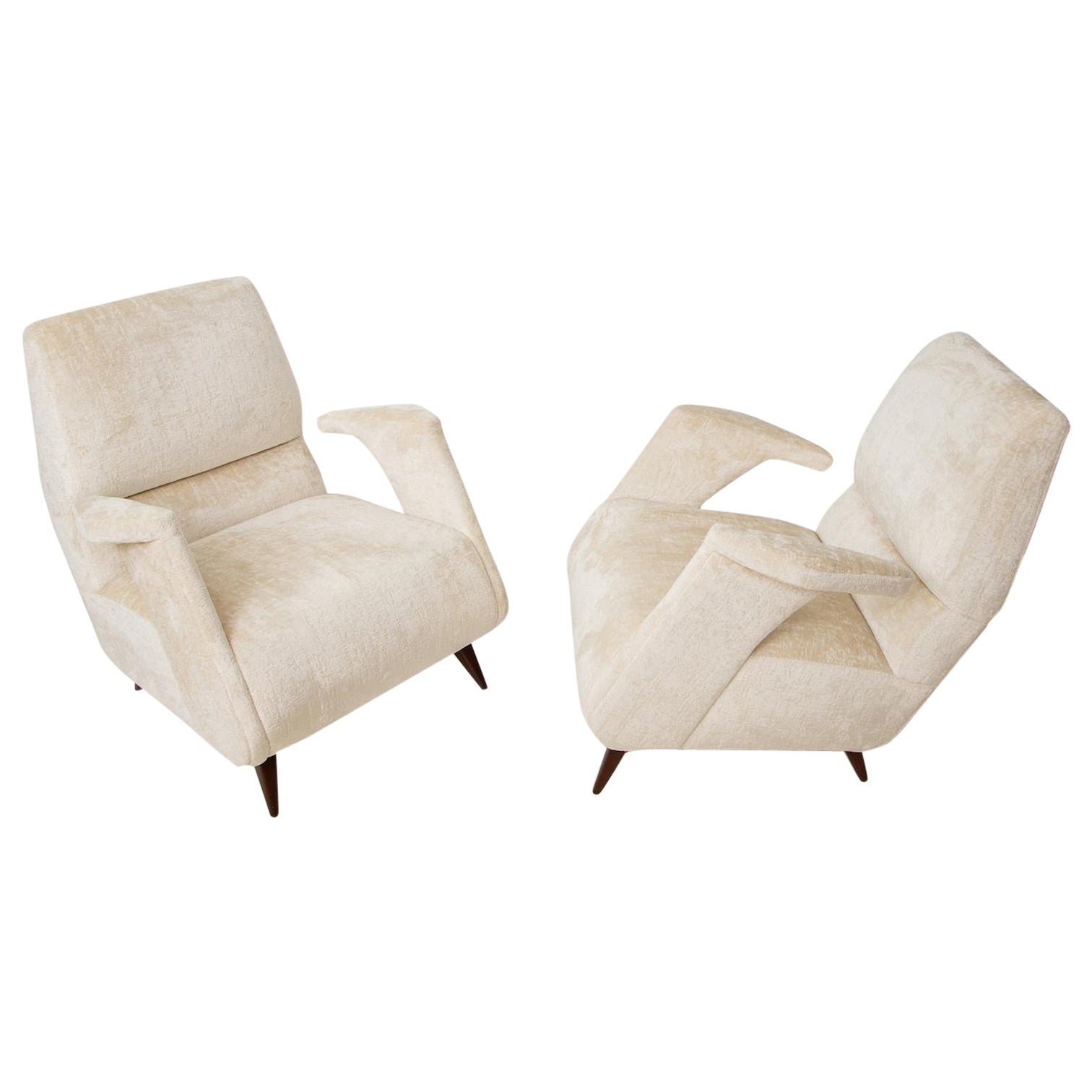 Mid-Century Italian Lounge Chairs in the Manner of Ico Parisi