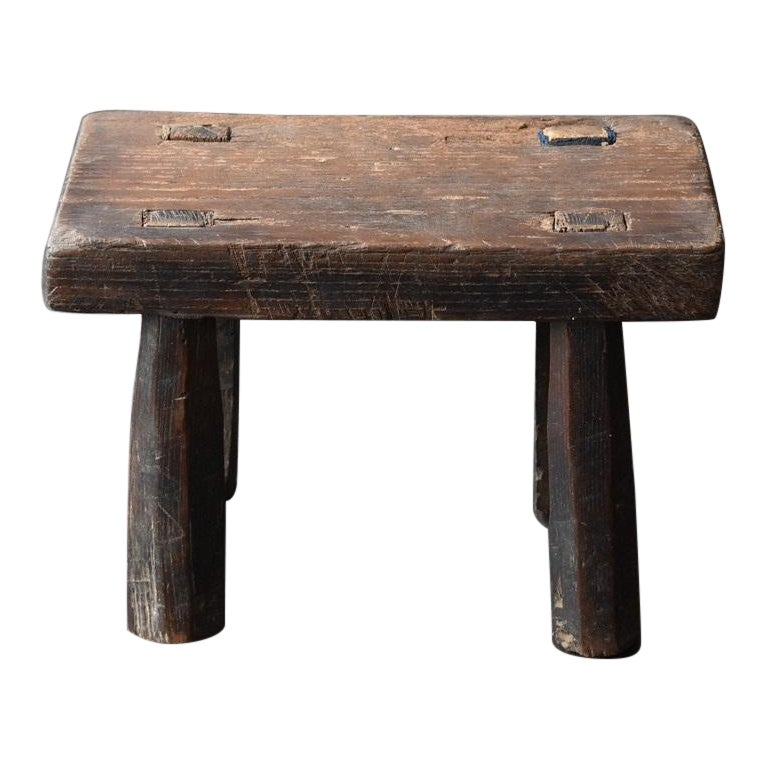 Japanese Old Wabi-Sabi Little Wooden Stool /Chair/ Decoration Wooden Stand