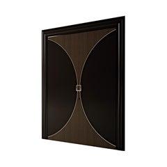 21st Century Carpanese Home Italia Door with Metal Details Modern, 7803