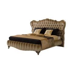 21st Century Carpanese Home Italia Upholstered Bed Neoclassic, 6098