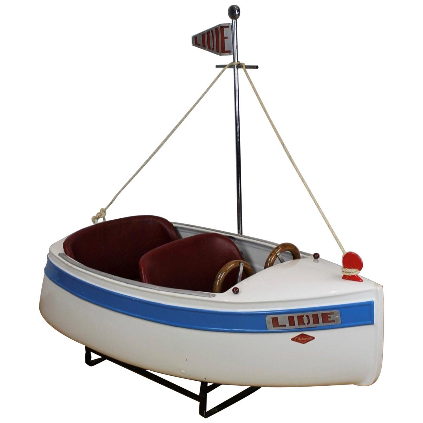 Carousel Boat by L' Autopède, 1940s