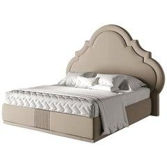 21st Century Carpanese Home Italia Upholstered Bed Neoclassic, 5781