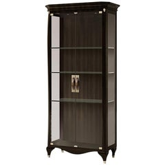 21st Century Carpanese Home Italia Glass Cabinet with Wood Neoclassic, 6601