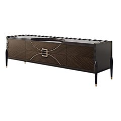 21st Century Carpanese Home Italia Tv Cabinet with Metal Details Modern, 7016