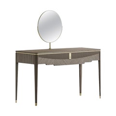 21st Century Carpanese Home Italia Toilette with Metal Details Modern, 7377