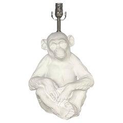 Vintage Boho Chic Plaster Monkey Lamp