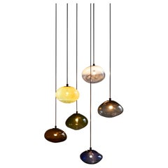 """Starglow Ceiling Lamp, Hand-Blown Murano Glass, 2021, Size """"L"""""""