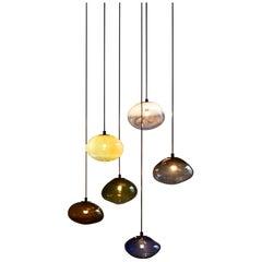 "Starglow Ceiling Lamp, Hand-Blown Murano Glass, 2021, Size ""XXL"""