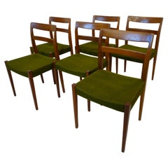 Nils Jonsson Walnut Dining Chairs for Troeds Sweden