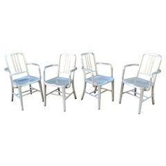 Set of 4 GoodForm Aluminum Armchairs