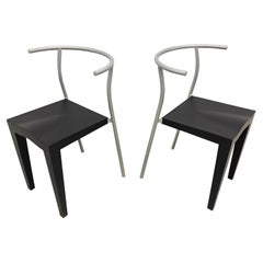 """Pair of Postmodern """"Dr Glob"""" Chairs by Philippe Starck for Kartell, Italy, 1990"""