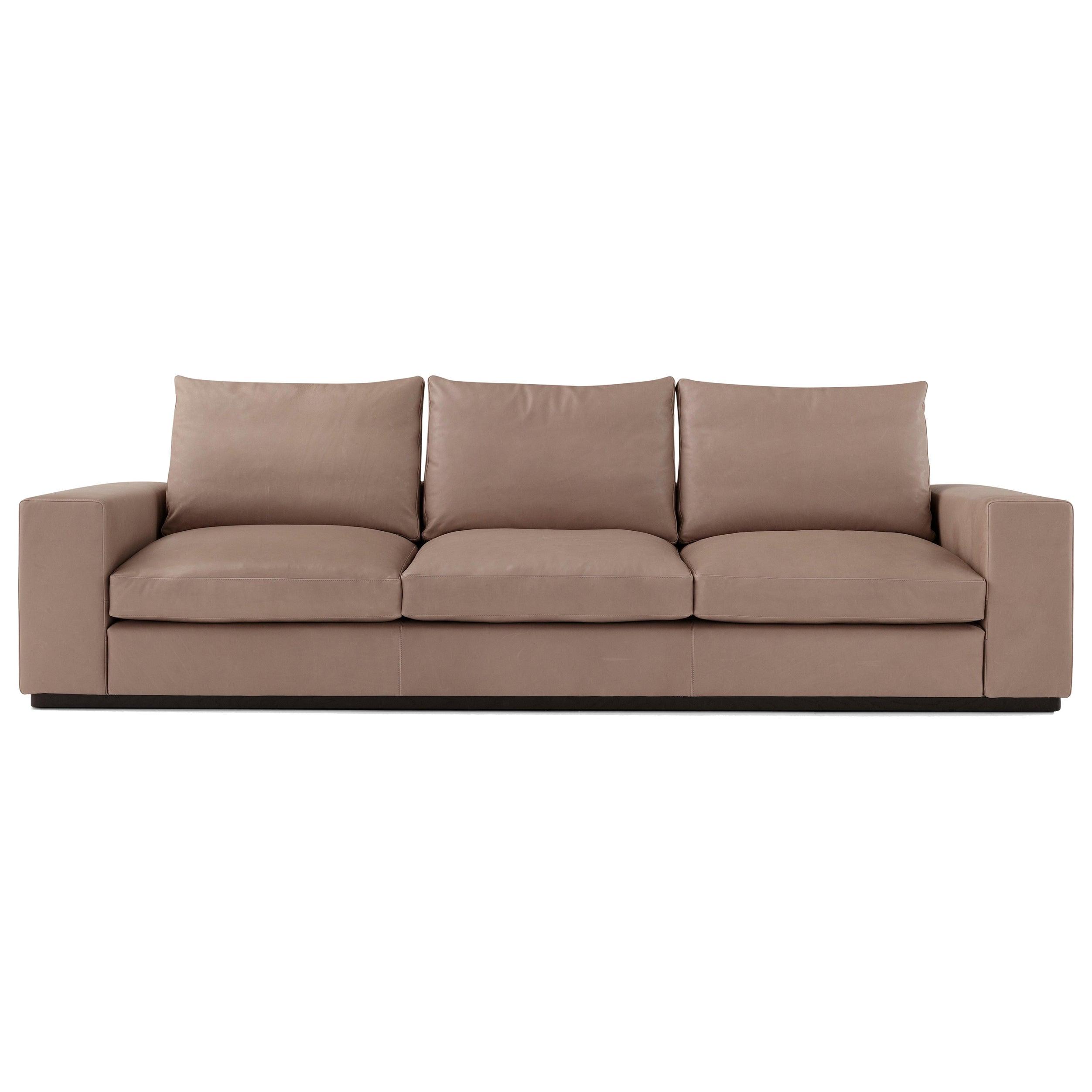 Amura 'Murray' 3-Seat Sofa in Tan Leather