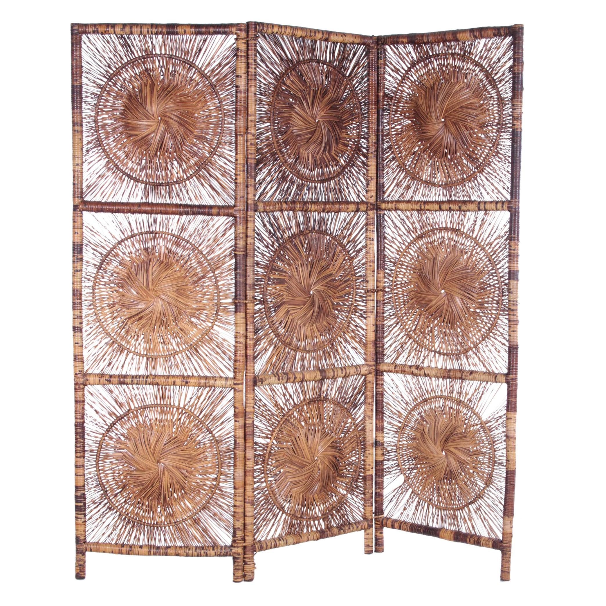 Mid-Century Bamboo Room Divider/Screen, 1960s