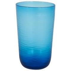 Large Signed 'Battuto' Glass Vase by Salviati