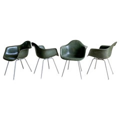 Eames for Herman Miller Fiberglass Dining Chair Set Rare Color