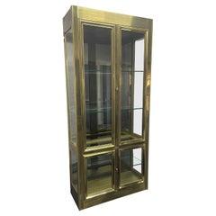 Brass Mastercraft Display Cabinet