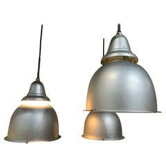 1950 Spun Aluminium Industrial Pendant Light by Benjamin