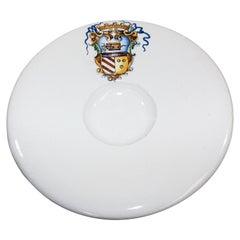 Vintage Stoneware Talavera White underglaze Large Bowl with Blazon Spain