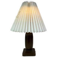 Table Lamp of Disco-Metal by Just Andersen with Paper Shade, 1930s