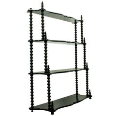 French Antique Bobbin Wall Hanging Shelves, 1890s