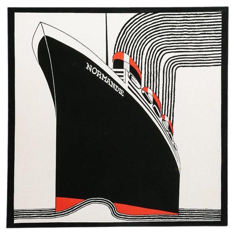 Large 'Normandie' Screenprint by Frances Butler