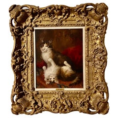 Jules Gustave Le Roy '1856-1921' a Cat Painting