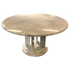 Round Marble Diner Table