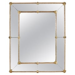 A 1940's Venetian Mirror with Twisted Glass Border