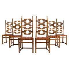 Jordi Vilanova i Bosh Mid-Century Mediterranean Modern Ash Dining Chairs