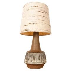 Danish Stoneware Table Lamp by Helge Bjufstrøm for Michael Andersen, 1960s
