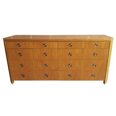 Charles Pfister for Baker  Prima Vera Mahogany Dresser with Satinwood Top