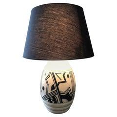 Art Deco Lamp in Ceramic