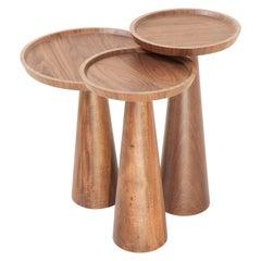 Imbuia Wood Toscana Side Table Set