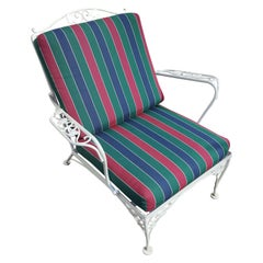 Mid-Century Floral Patio Lounge Chair