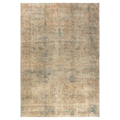 Fine Antique Persian Kirman Botanic Handwoven Wool Carpet