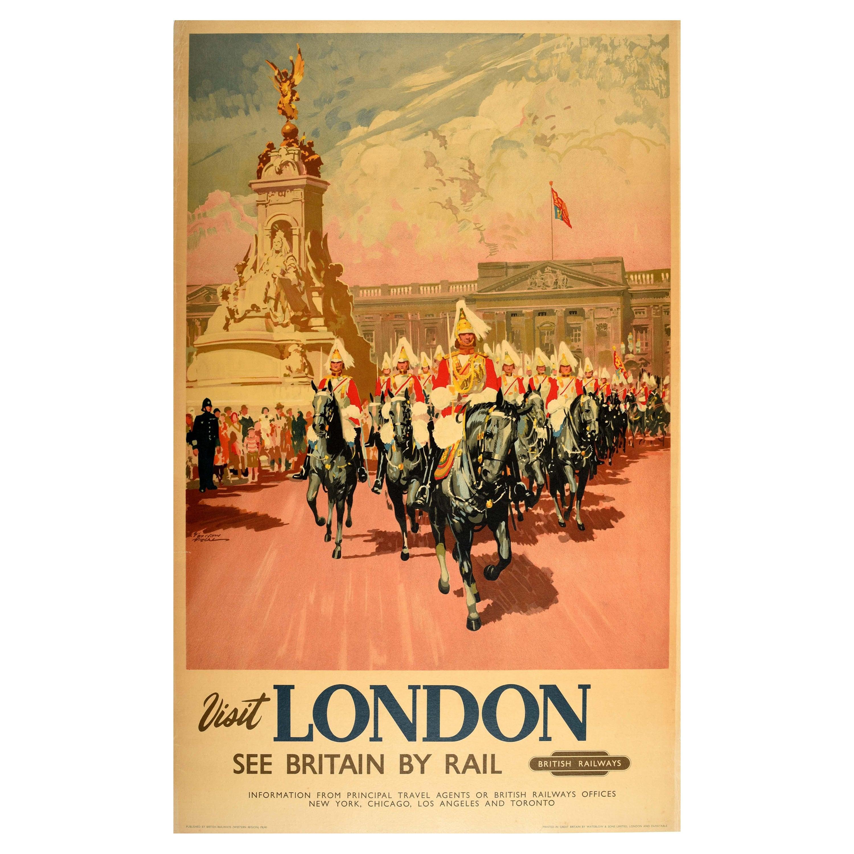 Original Vintage British Railways Travel Poster Visit London See Britain By Rail