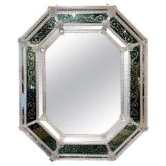 Antique Octagonal Venetian Mirror
