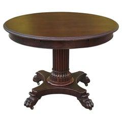 19th Century French Napoleon III Period Mahogany Center Table