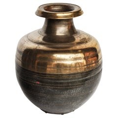 Vintage Bronze or Brass Water Jar from South Nepal Mid-20th Century
