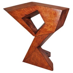 Contemporary Signed Modern Abstract Constructivist Styled Wooden Oak Sculpture