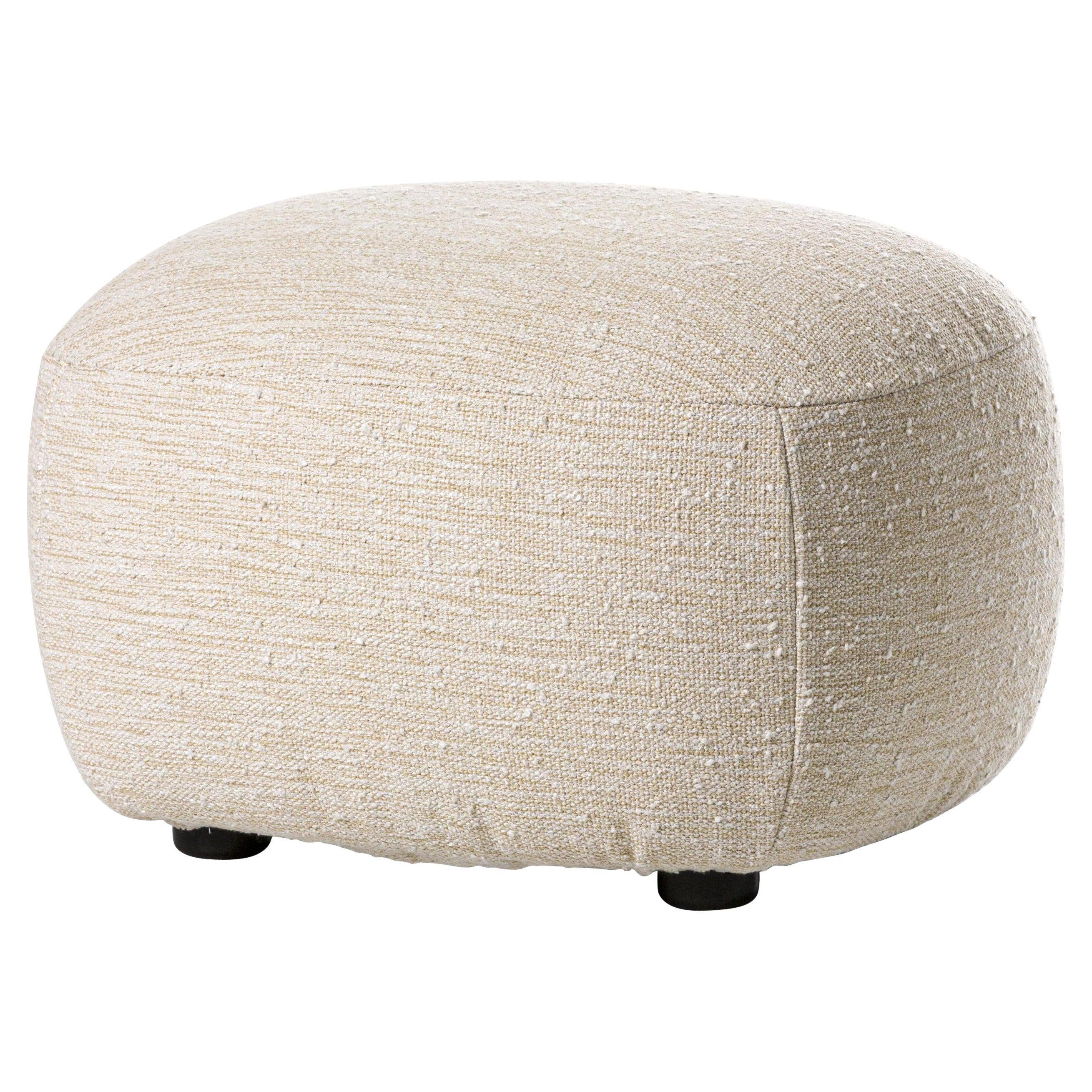 Gervasoni Loll 08 Ottoman in Seagull Upholstery by Paola Navone