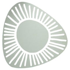 Gervasoni Brick 98 Wall Mirror in White Lacquered by Paola Navone