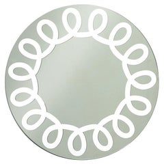 Gervasoni Brick 99 Wall Mirror in White Lacquered by Paola Navone