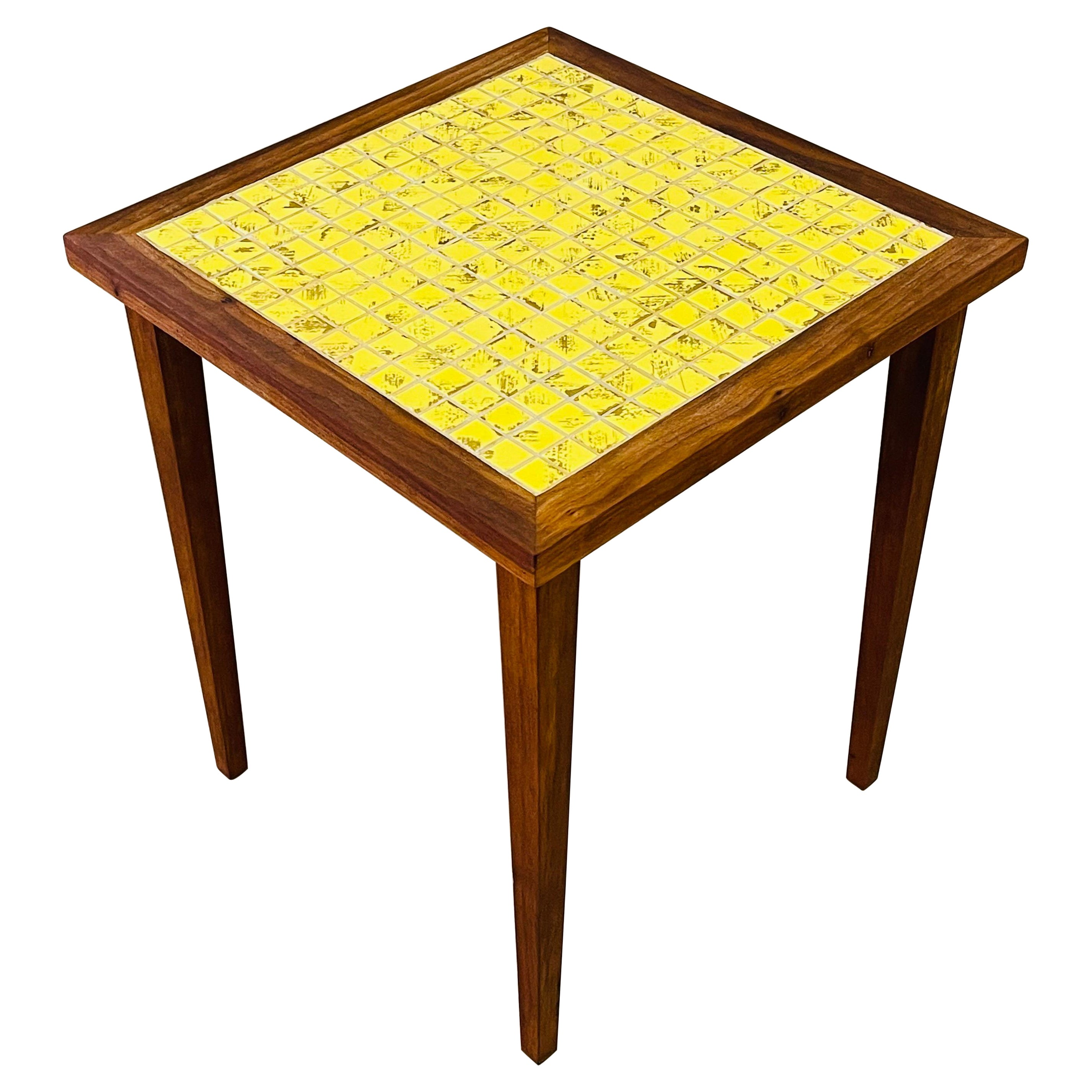 1960s Square Tile Top Side Table