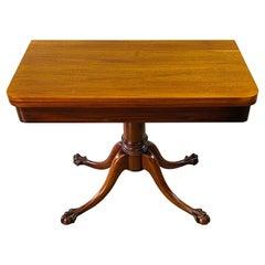 Mahogany Ball & Claw Foot Game Table