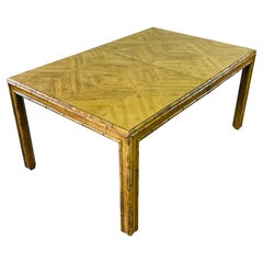 1970s Bamboo Style Dining Table