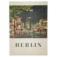 Original Vintage Berlin Travel Poster, 1958
