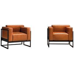 Kirk Sofa Armchair, Living, Orange, Black, Moder Design, Lounge, Hotel, Metal