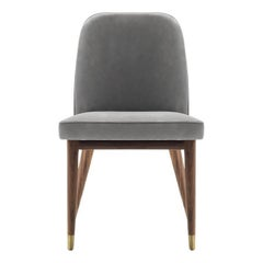 Contemporary Lise Chair Wood Leather by Castello Lagravinese studio