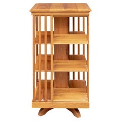 Fine Quality Solid Cherry Rotating Bookcase